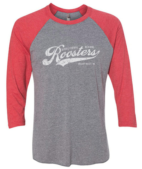 Directional School 3/4 Sleeve - Premium Heather/Vintage Red