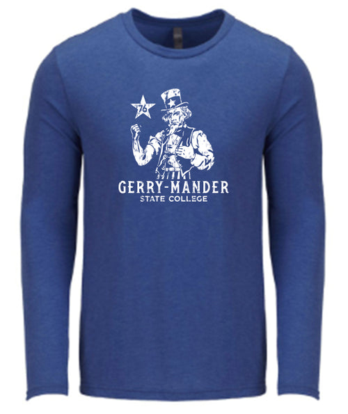 Gerry-Mander State College LS Tee - Vintage Royal