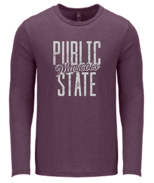 Public State University LS Tee - Vintage Purple