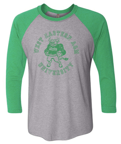 West Eastern A&M 3/4 Sleeve - Prem Heather/Envy