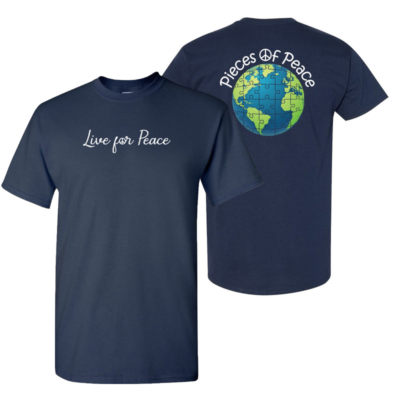 Live For Peace Unisex T-shirt - Navy
