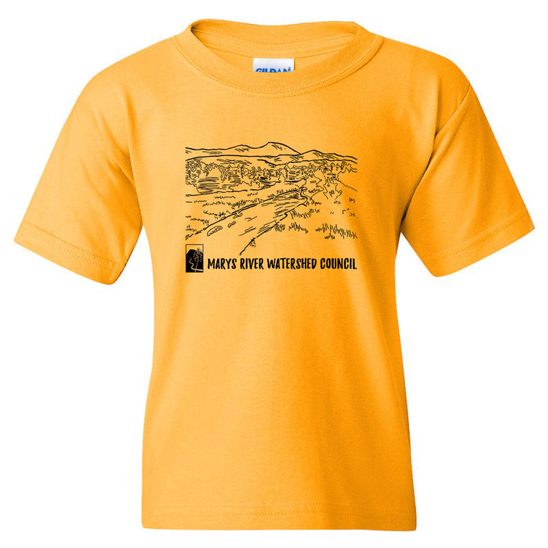 Marys River Watershed Council Youth T-shirt - Gold