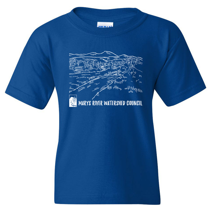Marys River Watershed Council Youth T-shirt - Royal