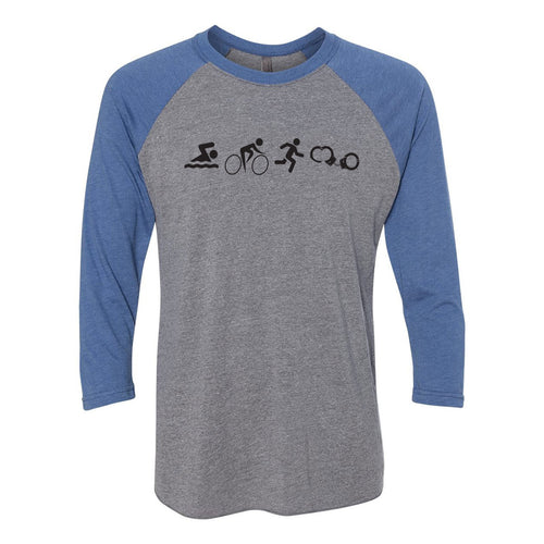NYPD Triathlon Web SBRC Raglan - Premium Heather/Vintage Royal