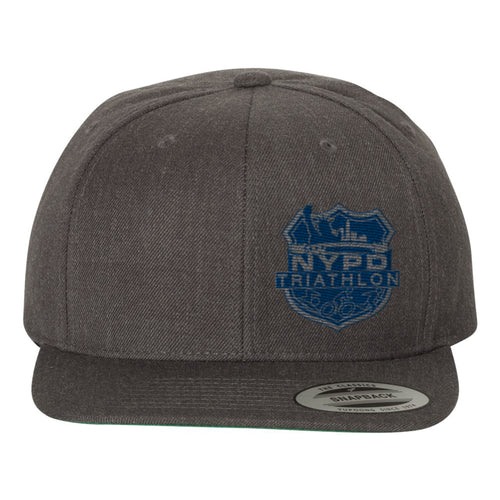 NYPD Triathlon Web Logo- Flatbill Grey