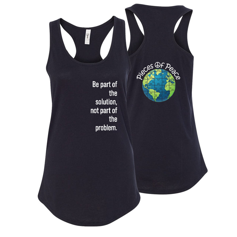 Part Of The Solution Racerback Tank Top - Black