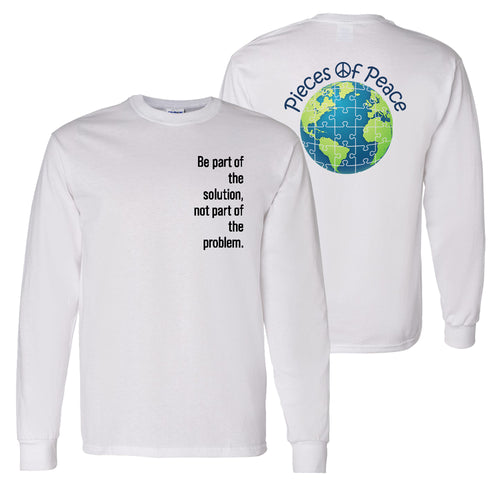 Part Of The Solution Unisex Long-Sleeve T-shirt - White