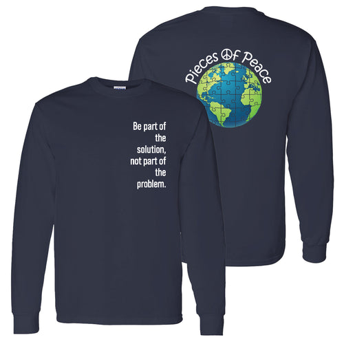 Part Of The Solution Unisex Long-Sleeve T-shirt - Navy