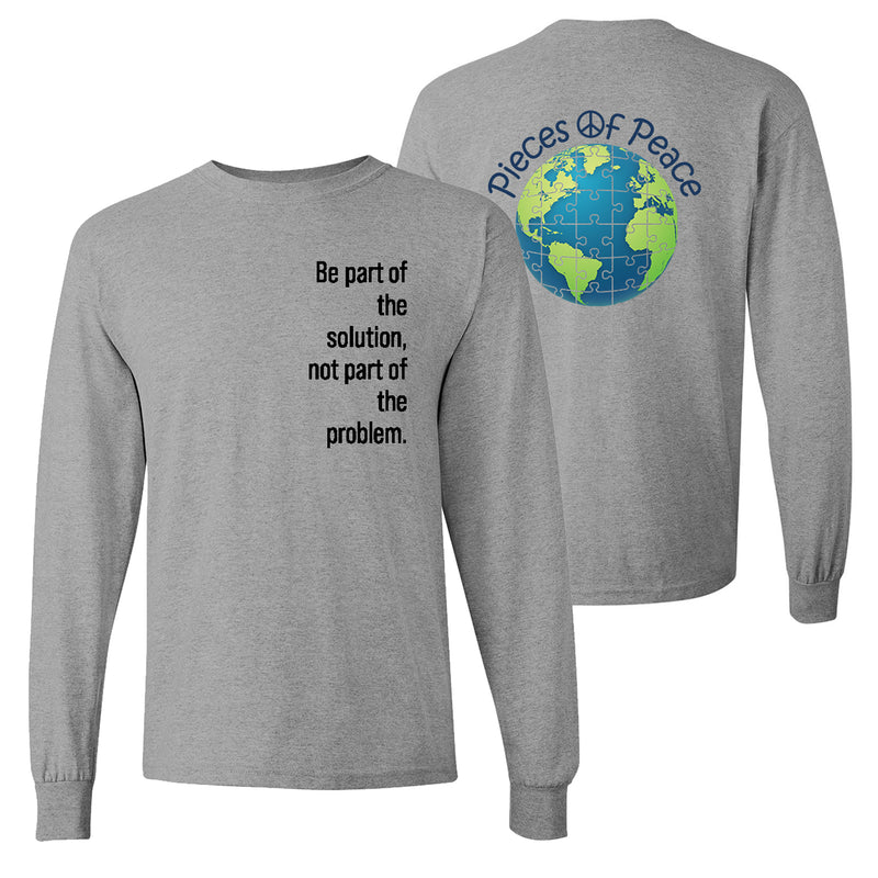 Part Of The Solution Unisex Long-Sleeve T-shirt - Grey