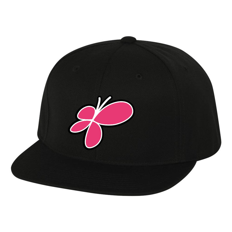 Pinnies Flatbill Hat Butterfly - Black