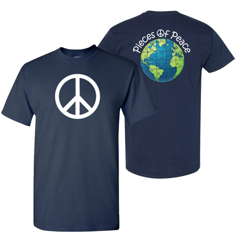 Peace Sign Unisex T-shirt - Navy