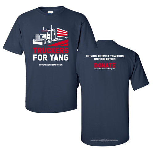 Truckers For Yang Unisex T-shirt - Navy