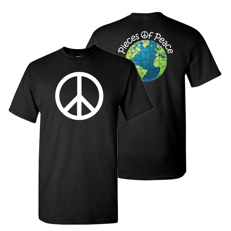 Peace Sign Unisex T-shirt - Black