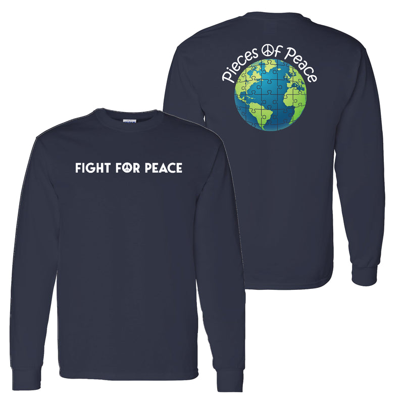 Fight For Peace Unisex Long-Sleeve T-shirt - Navy