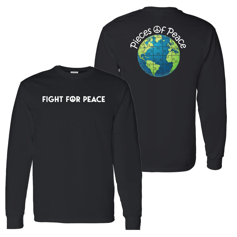 Fight For Peace Unisex Long-Sleeve T-shirt - Black