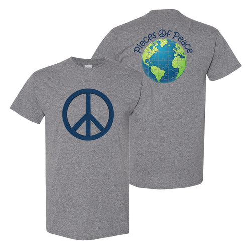 Peace Sign Unisex T-shirt - Grey