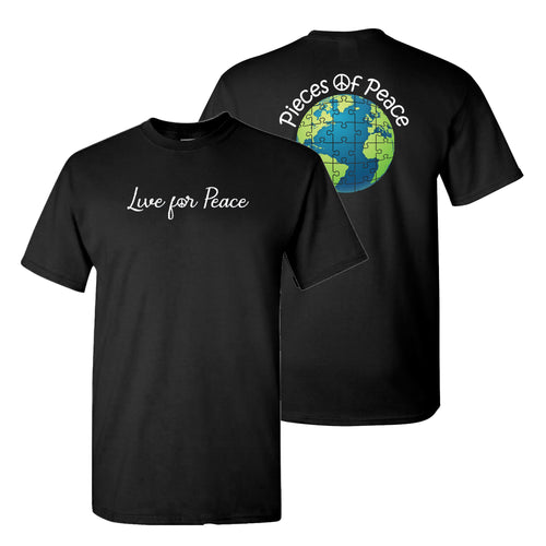 Live For Peace Unisex T-shirt - Black