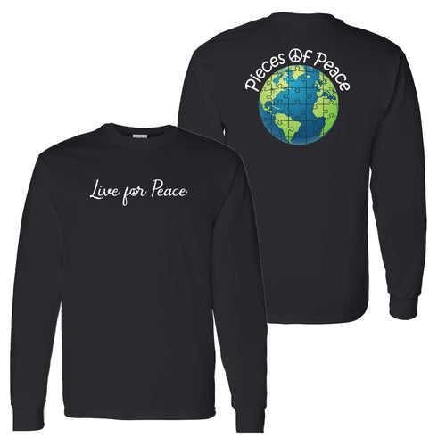 Live For Peace Unisex Long-Sleeve T-shirt - Black