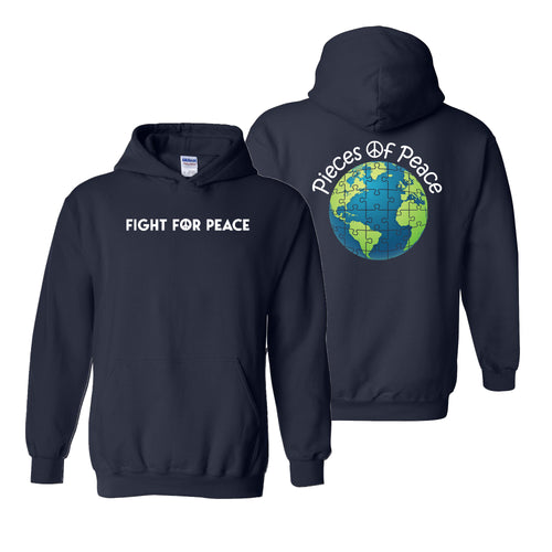 Fight For Peace Heavy Cotton Hoodie - Navy