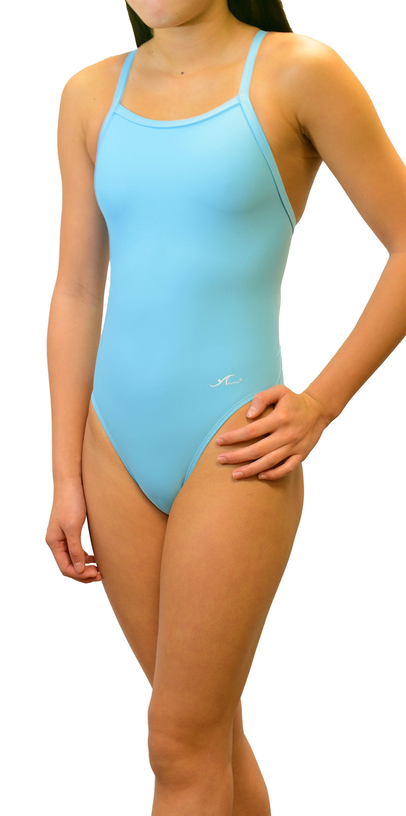 Adoretex Girl's/Women's Solid Thin Strap Flyback Swimsuit (FN001)
