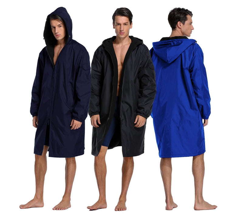 Adoretex Unisex Adult & Youth Swim Parka-Black Lining