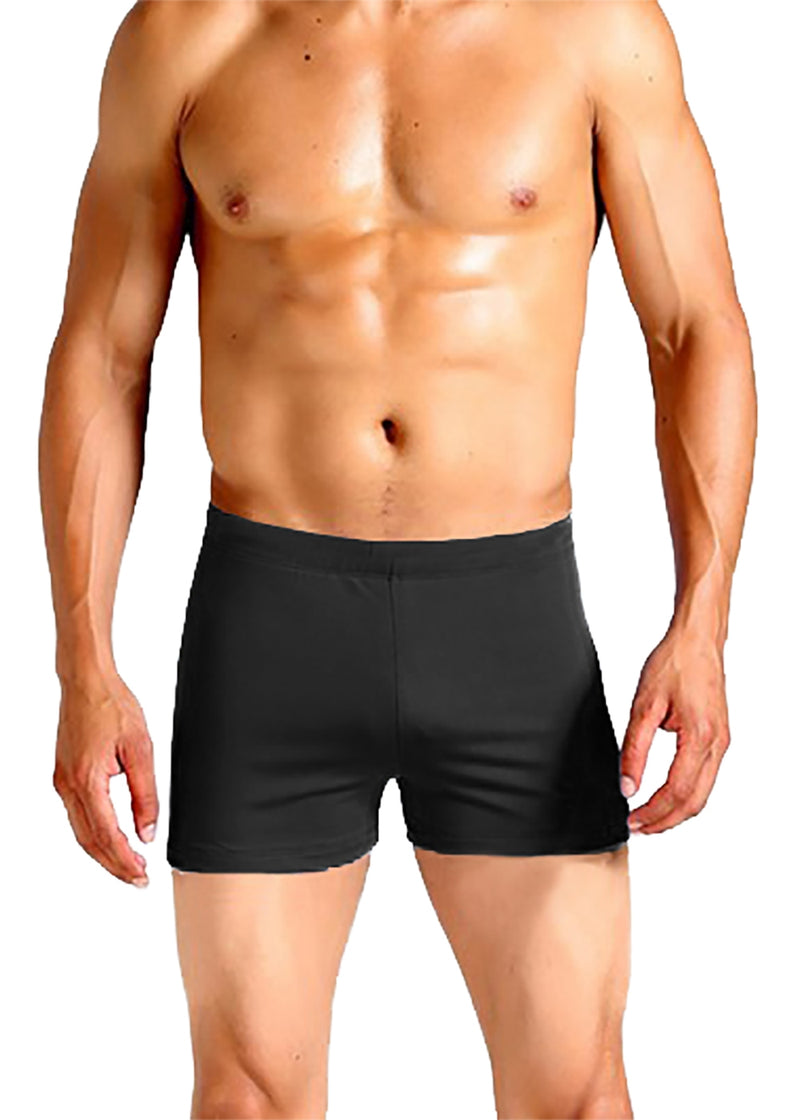 Adoretex Men's Polyester Solid Square Leg Swimsuit (MS002)