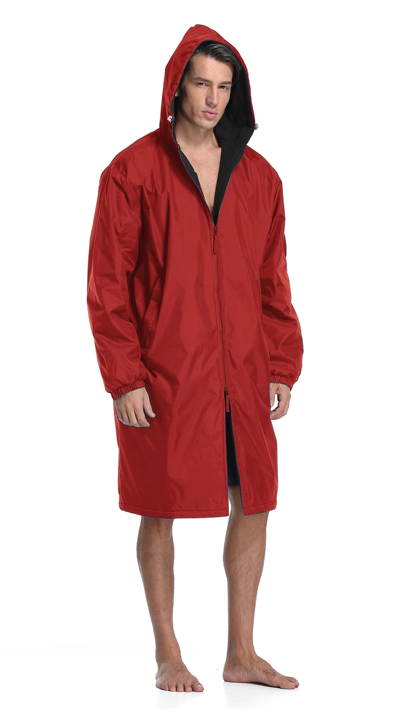 Adoretex Unisex Guard Swim Parka (PK005) - Black Lining - Red