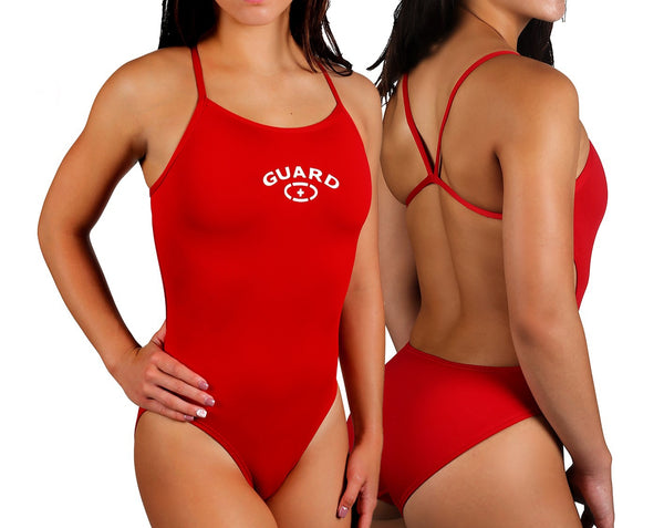 Adoretex Women's Guard Poly Thin Trap Open Back Swimsuits (FGP05)