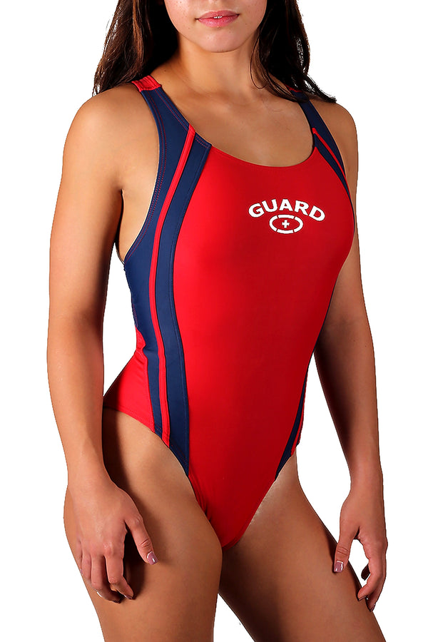 Adoretex Women Guard Wide Strap Splice Lycra Xtra Life Swimsuit (FGS03)