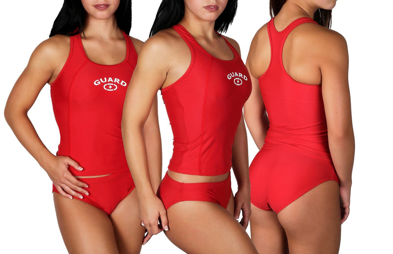 Adoretex Women's Lifeguard Two Piece Xtra Life Lycra Tankini Set (FTG02)