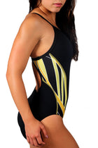 Adoretex Girl's/Women's Side Wings Thin Strap Swimsuit (FN029)