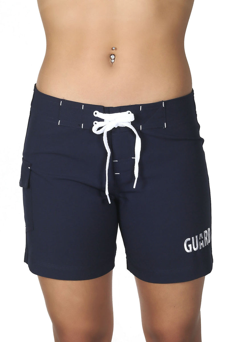 Ultrastar Women's Guard 5-Inch Board Shorts Stretch Swimsuit (FGB08)