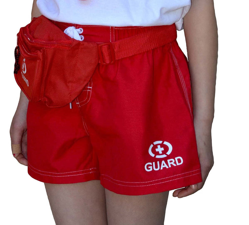 Adoretex Women's Guard Swimwear Board Short Set with Hip Bag, Whistle with Lanyard (FGB06)