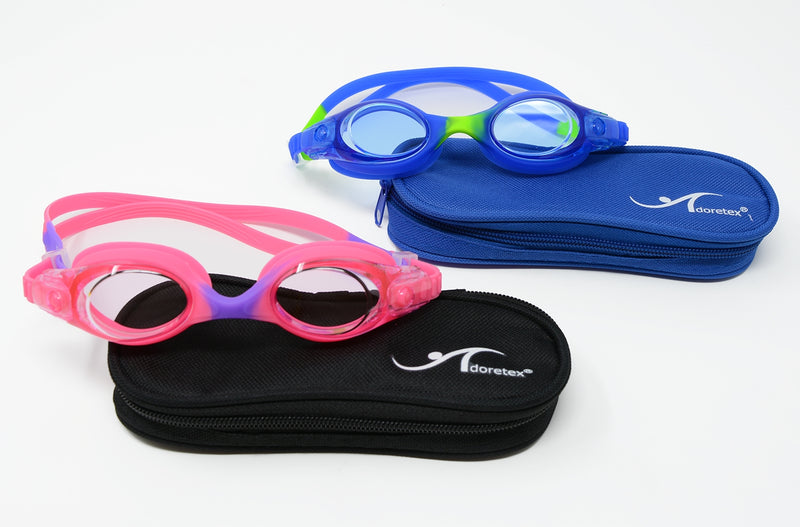 Adoretex Kid's Swim Goggles Case Set