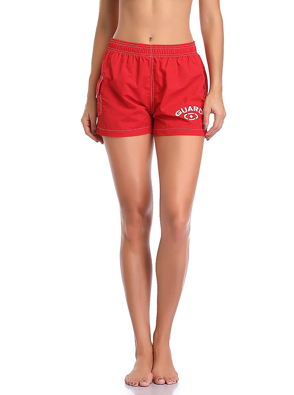 Adoretex Women's Guard Quick Dry Swim Board Shorts Swimsuit (FGB013)