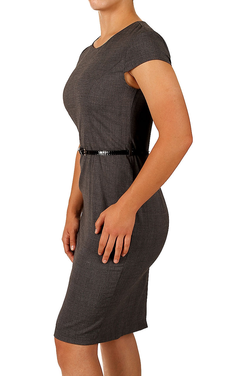 Women's Sleeveless Pleated Midi Pencil Dresses Wear to Work Dress (DS011)