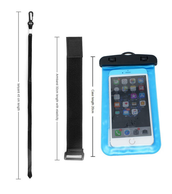 "Waterproof Case for Smartphone with Armband, 6""(PT-07)"
