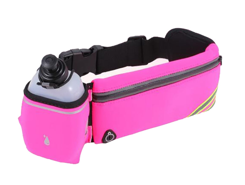 Athletic Running Belt Waist Bag with Water Bottle Holder(SP-14)