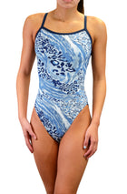 Adoretex Girl's Women's Pro One Piece Thin Strap Athletic Swimsuit (FN023)