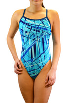 Adoretex Girl's /Women's Pro One Piece Thin Strap Athletic Swimsuit (FN031)
