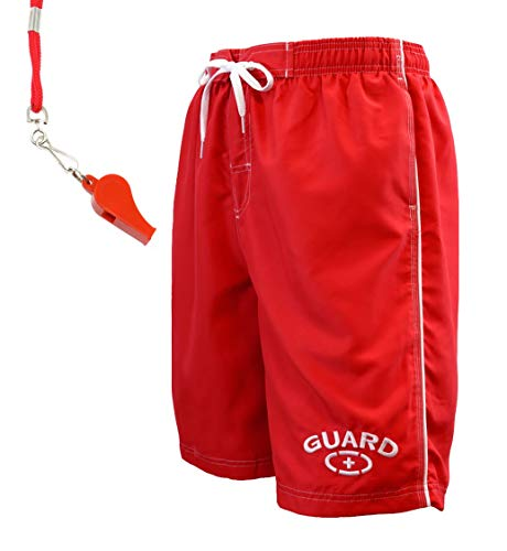Adoretex Guard Men's Swim Trunk with Free Whistle and Lanyard (MG001SET)