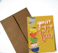 You're My Cup of Tea, Thinking About You Card, Just Because Card
