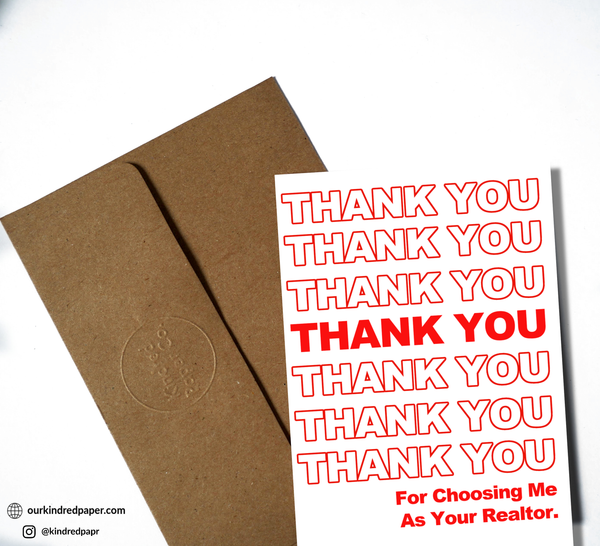 Realtor Cards, Realtor Card Set, Thank you Cards, House Hunting, First Home, Real Estate, Customer Appreciation, Client Appreciation