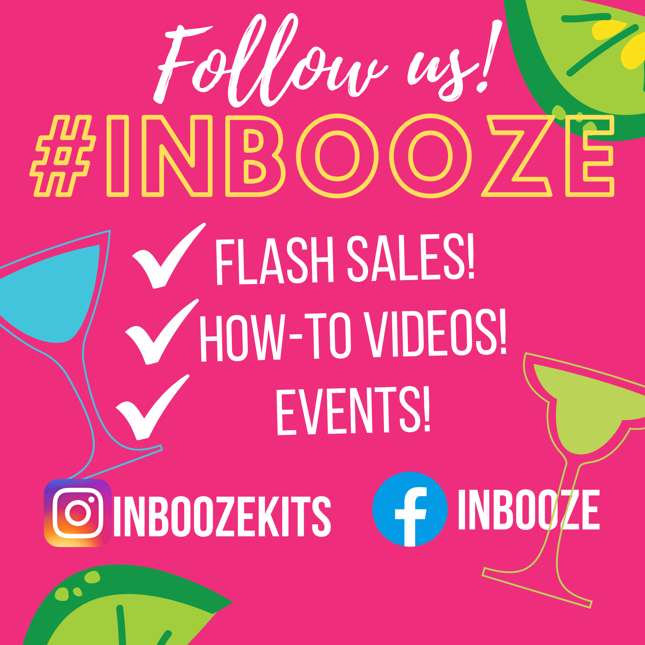 InBooze™ is owned by Ashleigh Evans, a mother of 4 and cocktail lover. In 2018, she wanted an easier (and healthier!) way for everyone to enjoy drinks at home. By infusing with simple fruits, spices and herbs, you know exactly what is in your cocktail!
