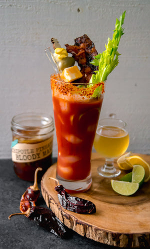 Chipotle Pineapple Bloody Mary infusion for Vodka or Tequila Infusion Kit by InBooze® - Try Now!