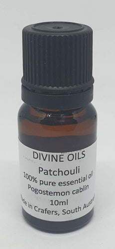 Patchouli 100% Essential Oil 10ml - Divine Oils-Bath & Body-Atelier Crafers