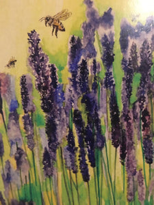 Greeting Card - Lavender Field and Bees - Paula Schetters-Homewares-Atelier Crafers