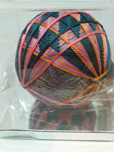 Temari - Grey, navy and pink - Atelier Crafers