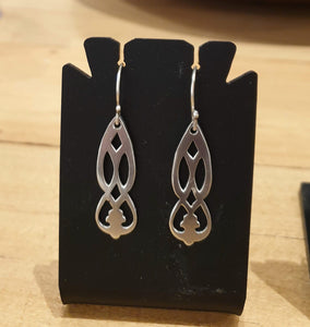 Sterling Silver earrings made from 1931 teaspoons-Jewellery-Atelier Crafers