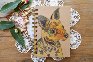 'Wilma the Swamp Wallaby' 100 page A6 Notebook with kraft paper-Stationery-Atelier Crafers
